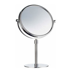 Smedbo - Smedbo Shave /Make Up Mirror, Freestanding, Polished Chrome - Smedbo Shave /Make Up Mirror, Freestanding, Polished Chrome
