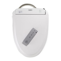 Toto - Toto Round Wide Front Cleanse Washlet - SW573#01 - Shop for Seats from Hayneedle.com! Change your bathroom experience for the way better with a Toto Round Wide Front Cleanse Washlet. This incredible seat eliminates paper leaving you and your bathroom cleaner than ever before. You'll enjoy a warm water washing Wonderwave spray warm air dryer heated soft-close seat and the incredible cleaning benefits of a self-cleaning mechanism and revolutionary ewater+. How does it work? The wand self-pre-cleans At your command the wand extends and releases a warm soothing stream of aerated water and automatic warm air drying The wand cleans itself again Toilet flushes Sprays an ewater+ cleaning mist into the toilet bowl After 8 hours of non-use automatically cleans the bowl with ewater+ Features Washlet cleaning with 5 spray settings Instantaneous water heating Built-in air deodorizing system Adjustable water and seat temperatures Warm-air dryer Easy-to-read illuminated remote control Magnetic wall-mount remote cradle 2-use personal memory settings Mounting hardware and connections included About ewater+ Electrolyzed water (ewater+) is a proven disinfectant used in food preparation and cleaning. This washlet uses your existing incoming water supply to create an electrolyzed pre-mist that wets the toilet bowl surface before use. This results in 80% better waste elimination than a dry bowl! After each flush the ewater+ mists the bowl again reducing the need for harsh cleaning chemicals. About TOTO TOTO Ltd was founded in Kitakyushu Japan along with TOTO USA in 1917. In almost a century they have grown into an international company with over 60 million plumbing fixtures produced and $5.1 billion dollars in annual sales. Today TOTO is the largest plumbing manufacturer in the world and maintains 60 offices that employ over 23 500 workers worldwide. All TOTO products feature elegant designs that are affordable and save as much water as possible. The standard of excellence is so h