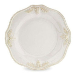 Lenox Corporation - Lenox Butlers Pantry Gourmet Accent Plate - Set of 4 - LNOX791 - Shop for Dishes and Plates from Hayneedle.com! With its understated sophistication and beauty the Lenox Butlers Pantry Gourmet Accent Plate - Set of 4 looks perfect in formal and casual settings alike. Its sculpted leaf design and scalloped edges add a hint of timeless elegance that you're sure to love. Microwave- and dishwasher-safe these plates are crafted from durable stoneware.About Lenox CorporationLenox Corporation is an industry leader in premium tabletops giftware and collectibles. The company markets its products under the Lenox Dansk and Gorham brands propelled by a shared commitment to quality and design that makes the brands among the best known and respected in the industry. Collectively the three brands share 340 years of tabletop and giftware expertise.