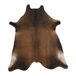 Safavieh - Safavieh Cow Hide Rug with Tan X-5-D112HOC - Produced in Argentina, the Safavieh cowhide rug offers exceptional decorator quality and design.  The hand woven superior skins are handpicked to ensure natural appearance and quality will endure over time.
