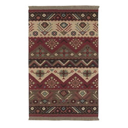 Surya Rugs - Jewel Tone Red Rectangular: 5 Ft. x 8 Ft. Rug - -Constructed of 100% wool.  -Reversible.  Surya Rugs - JT-8-58