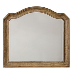 """Hooker Furniture - Hooker Furniture Solana Mirror - Luminous and fresh, Solana is a refined rustic, opulent yet casual collection that celebrates the look of natural wood bathed in sunshine. Poplar Solids and Oak Veneers with Mirror. Dimensions: 46""""W x 3.25""""D x 41.75""""H."""