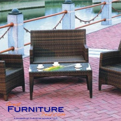 TOSH Furniture - Cherry Sofa Set - TOS-GW0035SET - Coffee table comes with 1pc 5mm clear glass.