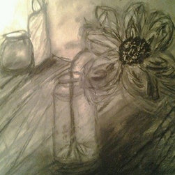 ~Kitchen Korner~ by Cynthia Jackson (Original) by Cynthia Jackson - Perfect for a kitchen nook area . Charcoal & Pencil Still Life Drawing