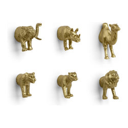 Golden Animal Magnets - These gilded animal magnets are too cute. They would be adorable in a home office or on a magnetic strip in the entryway for notes and reminders.