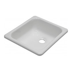 "Lyons - Lyons Deluxe DKS01H-2.0CLP Acrylic Kitchen Sink - Lyons Industries single Bowl White acrylic Recreational Vehicle-Motor Home sink with a 5"" deep bowl and a 2"" drain opening. This standard self rimming 13""X 15.25"" sink is easy to install. This sturdy sink has durable easy to clean high gloss acrylic construction with a fiberglass reinforced insulation backer. This sink is quiet and provides a superior heat retention than other sink materials meaning your water stays warm longer. Lyons sinks come with a simple mounting tab and clip system to firmly fasten the sink to the countertop and reinforced drain areas. Detailed installation instructions include the cut-out specifications. Lyons sinks are proudly Made in America by experienced artisans supporting our economy."
