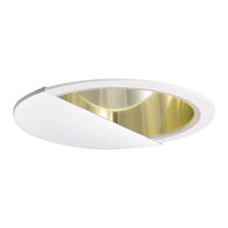 "Nora Lighting - Nora NTA-86 6"" White Wall Wash Eyelid with Specular Gold Cone Reflector - 6"" White Wall Wash Eyelid with Specular Gold Cone Reflector"