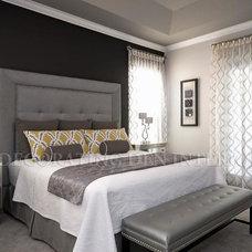 Contemporary Bedroom by Barbara Hayman- Decorating Den Interiors