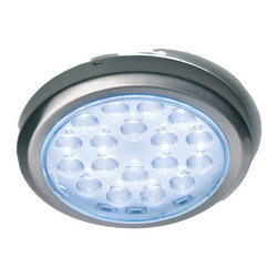 "Hafele - Hafele 830.64.231 Sunny LED 2.313"" Round Puck Flush Mount Light Fixture - Sunny LED 2.313"" Round Puck Flush Mount Light FixtureThis LED light fixture is perfect for mounting under cabinets or inside them.  Bring light to any area with this warm LED light.  This series features high efficiency output, 3200K white light, with a 79"" cord.Hafele is committed to finding better ways and it shows in their innovative and beautiful line of kitchen products.  These products will lead to better organization in your kitchen and the peace of mind that comes with Hafele brand products.  Besides quality and beauty, Hafele is committed to reducing their environmental impact, so you can buy these products with confidence in every aspect.Features:"