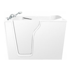 "Ariel - Ariel EZWT-3555 Walk-In Bathtub DUAL L 55X35X45 - Ariel Walk-In Bathtubs combine safety and convenience. They come with a door and built in seat so you can enjoy a private & relaxing bath experience. Dimensions:  55X35X45, ADA Compliant Walk in Bath Tub, 17"" seat height and 28"" wide, Handheld showerhead and Roman Faucets, Free standing stainless steel support frame with adjustable feet, Heavy duty reinforced door system, UPC drain, 18 Air Jets  6 Whirlpool Jets, 2 HP Heat Pump   , 110 V 0.75HP Electric Air Pump , Left and right configurations available"