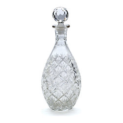 Go Home - Glass Brasserie Decanter - Brasserie Decanter glass surface handcut into a latticework of criss-crossing lines, petals, and leaves.Made from glass and has hand cut finish.Perfect for gift idea.