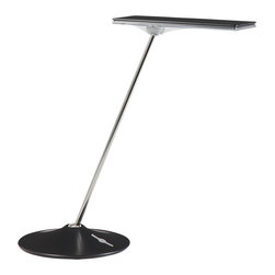 Humanscale - Horizon Desk Lamp - Thin is in. This stylishly functional task lamp's innovative Thin Film Technology uses a series of energy-efficient, high-intensity LEDs to produce a warm, glare-free light from its slim head. There's even a built in dimmer to get light to fit the way you work.