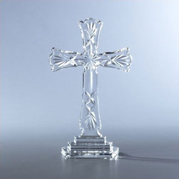 "Waterford - 8"" Crystal Cross - The elegant diamond cuts etched into our Standing Cross are simply divine. Both spiritual and beautiful, this heavenly collectible makes an excellent gift for a baby naming or christening. Features: -Quality construction. -Beautiful craftsmanship. -Height: 8""."