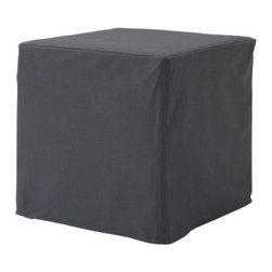IKEA of Sweden - Solsta Pällbo Footstool, Ransta Dark Gray - The possibilities of Ikea-hacking are endless with this footstool for only $15.