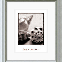 Amanti Art - Beach Dreams Framed Print by Sue Schlabach - In Beach Dreams Sue Schlabach captures a signature seashell piece. A simple but graphic representation of nature's perfect beauty.