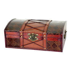 Pirate Treasure Chest with Leatehr X - This decorative treasure box is gonna fill any empty place in your home or heart.