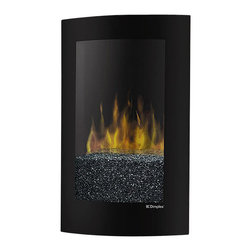 Dimplex - Dimplex Electraflame Curved Recessed Wall Mount Electric Fireplace - Dimplex - Fireplaces - VCX1525 - The Curved Convex Recessed Fireplace is a stylish 120 Volt fireplace that will mount directly to the wall to save space. The fireplace includes convex-shaped tempered glass which gives a contemporary and seamless look.