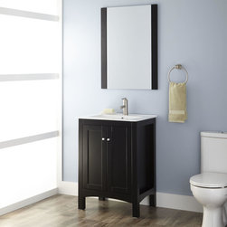 """24"""" Frazier Vanity Cabinet with Mirror - The expertly crafted 24"""" Frazier Vanity is designed to be an ideal fit for smaller bathrooms. Add the matching mirror and a single-hole faucet for a complete set."""