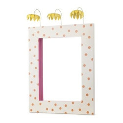 Sophie Mirror - Polka dots. Flowers. PInk. Cutest. Mirror. Ever.