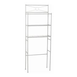 Zenith - Metal Space Saver in Satin Nickel - 2623NN - Manufacturer SKU: 2623NN. Bath Storage. Ready to assemble etagere. Material: 100 % Metal. Satin Nickel finish. 23.6 in. L x 12.5 in. W x 64.6 in. H (10.53 lbs.)Spacesavers are a great way to add additional storage to your bathroom.