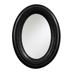 "Stanley Furniture - Stanley Furniture European Farmhouse Portrait Gazing Glass Oval Mirror Chalkboar - Stanley Furniture's European Farmhouse collection brings Old World artistry to modern functionality. The Portrait Gazing Glass oval mirror offers age-old detailing and an heirloom design to living rooms, bedrooms and hallways. In a vintage oblong form, this unique wall accessory shines with curved molding and a sophisticated dusty black finish. Hanging wire not included.28.5""W x 38.5""H."