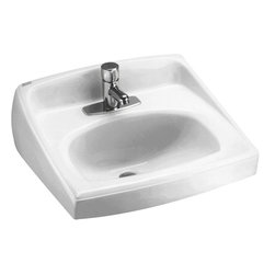 """American Standard - American Standard 0356.041.020 Lucerne Wall-Mount Sink, White - American Standard 0356.041.020 Lucerne Wall-Mount Sink, White. This wall-hung lavatory is constructed of vitreous china, and includes a front overflow, a concealed wall-hanger mounting, a D-shaped bowl, a self-draining deck area with contoured back and side splash shields, and a faucet ledge. This model comes with a single, centered faucet mounting holes, and it measures 20-1/2"""" by 18-1/4"""", with a 6-1/2"""" bowl depth."""