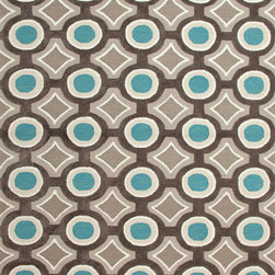 Jaipur Rugs - Modern Geometric Pattern Blue Polyester Tufted Rug - BR30, 3.6x5.6 - A youthful spirit enlivens Esprit, a collection of contemporary rugs with joie de vivre! Punctuated by bold color and large-scale designs, this playful range packs a powerful design punch at a reasonable price.