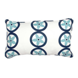 COCOCOZY: Vent Pillow - This is that one super-special pillow worth splurging on. The one you put in the center of the inexpensive ones from big box stores and instantly up your look ten-fold. In this color palette, it takes on an abstract and fun coastal look, as the happy blossoms start to look like starfish to me.