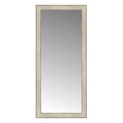 """Posters 2 Prints, LLC - 17"""" x 37"""" Libretto Antique Silver Custom Framed Mirror - 17"""" x 37"""" Custom Framed Mirror made by Posters 2 Prints. Standard glass with unrivaled selection of crafted mirror frames.  Protected with category II safety backing to keep glass fragments together should the mirror be accidentally broken.  Safe arrival guaranteed.  Made in the United States of America"""
