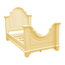 EuroLux Home - New Twin Bed Yellow Painted Hardwood - Product Details