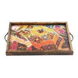 My Méz - Colorful Umbrellas Tray/Wall Art - It's a tray; It's wall art. It's BOTH, and It's Made In the USA!