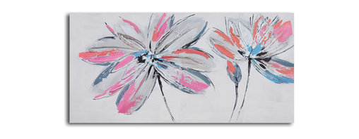 Bud to blooms Hand Painted Canvas Art - Bursting with color, this painted canvas wall art will breathe new life into your walls. Each is a hand-painted original, so subtle variations are to be expected and celebrated.