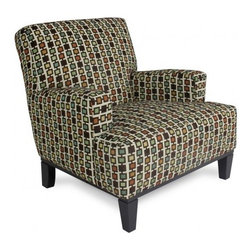 HOOEY CANYON ACCENT CHAIR - Introducing trendy contemporary comfort, this Hooey Cannon accent chair from Jonathan Louis offers both functionality and style. The color patterns make this chair versatile, sure to accentuate your home today!