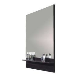 "Due 39"" 1/4 mirror bathroom with shelf. Expresso. - Due 39"" 1/4 mirror with shelf. Expresso."