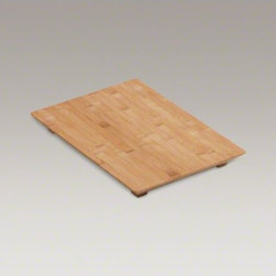 KOHLER - KOHLER Hardwood cutting board for Poise(R) and  8 Degree(TM) kitchen and bar sin - Create a convenient workstation with this Poise cutting board. Crafted from top-quality bamboo, this board features angled edges to fit select Poise and 8 Degree(TM) kitchen sinks. Prepare foods over your sink, then simply slide the scraps into the basin or transport them to a compost pail for easy cleanup.