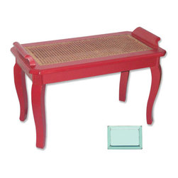 Tradewinds - Coastal Bench, Aqua - Add an additional space in your room settings with this Chespeake bench that is made from fine-quality material. Hand-painted and available in 12 finishes, this bench can be added to the foot of your bed or in the front of the window in the bedroom.