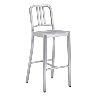 Army Stool Brushed Aluminum - Brushed aluminum, available in counter and bar height.