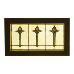 Meyda - 24 Inch W X 14 Inch H Bud Trio Window Windows - Color Theme: Beige 59 Ha Orange 11zag