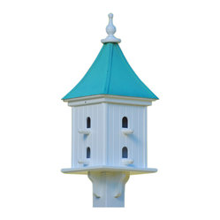 Dovecote Birdhouse-Perches Vinyl/Copper