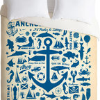 DENY Designs - DENY Designs Anderson Design Group Anchors Away Pattern Duvet Cover - How fun is this duvet cover? I love everything about it.