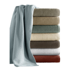 Luxor Linens - Hammam Cotton Towels, 6-Piece, Leaf - Made from 100% combed extra long staple cotton in Turkey, these chenille inspired towels are the quintessence of softness and thirst. In one of eight creamy colors all you need is candles for a truly relaxing bathing experience.