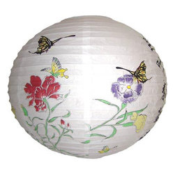 Oriental-Decor - Bright Summer Lantern - Use a few of these summer lanterns for your next outdoor event. Lit from inside, one of these lanterns will bring a warm, translucent glow to your table as a centerpiece.