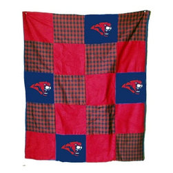 Traditions Art Glass Studios - Houston University Quilt - -Large 50 x 60 Ultra suede patchwork quilt with chenille school logos  -Great for tailgating, keeping warm at games, or watching games on TV  -Machine washable. Traditions Art Glass Studios - HOU805