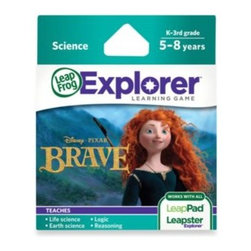 Leap Frog - LeapFrog Explorer Disney Pixar Brave Learning Game - Join Merida on this magical quest on the LeapPad and Leapster Explorer. Your children will discover what it means to be brave as they explore an amazing world of plants and animals.