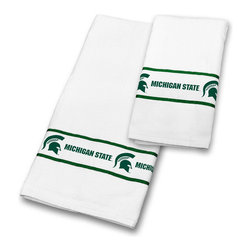 Sports Coverage - NCAA Michigan State Spartans Towels College Bath Accessories - FEATURES: