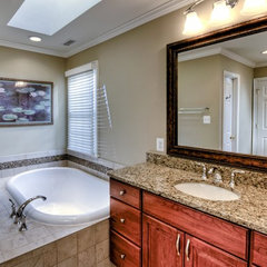 modern bathroom mirrors by Kirkpatrick's Construction, LLC.