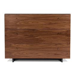 Spot on Square - Roh Dresser, Walnut with White - The Spot on Square Roh Dresser - Walnut with White. Designed by Bob Springer, Nicole Springer, Spot On Square, part of the Spot on Square Roh Family.