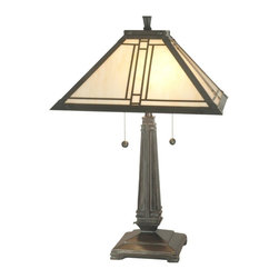 Dale Tiffany - New Dale Tiffany Lamp Bronze Mica Mission - Product Details