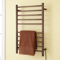 "20"" Haydyn Plug-In Towel Warmer - Experience the comfort of fresh, warm towels each time you bathe with the 20"" Haydyn Plug-In Towel Warmer, crafted of durable stainless steel."