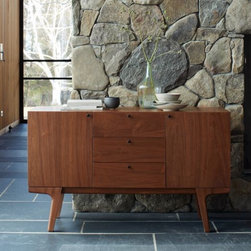 Dumont Buffet - Walnut | west elm - mid century scandinavian style buffet sideboard.  great for storage, not too big nor too small.  also available in chocolate.  sold by west elm.